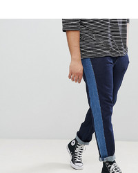 ASOS DESIGN Plus Slim Jeans In Indigo With Insert