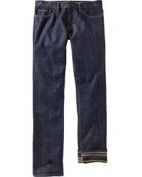Old Navy Printed Interior Slim Fit Jeans