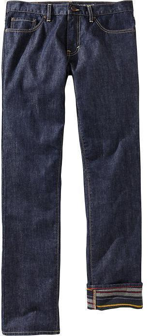 Old Navy Printed Interior Slim Fit Jeans