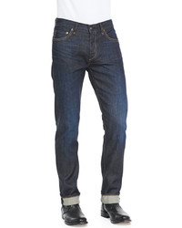 Rag and Bone Rag Bone Slim Straight Raw Selvedge Jeans