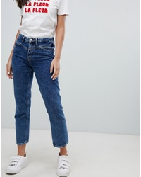 Only Seam Detail High Waist Straight Leg Jeans