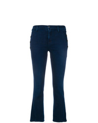 J Brand Side Buttons Cropped Jeans