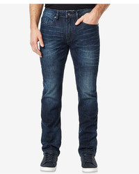 Buffalo David Bitton Six X Slim Straight Fit Stretch Dark Wash Jeans