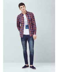 Mango Outlet Skinny Dark Wash Jude Jeans