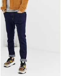 Bershka Skinny Jeans In Dark Blue
