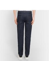 Alexander McQueen Slim Fit Appliqud Stretch Denim Jeans