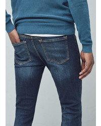 Mango Outlet Slim Fit Dark Wash Jan Jeans