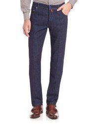 Kiton Slim Fit Dark Wash Jeans