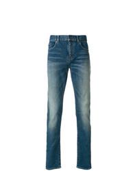 Saint Laurent Slim Fit Faded Jeans