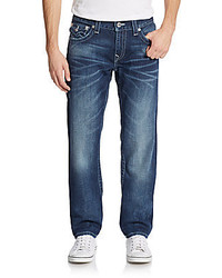 True Religion Slim Fit Flap Pocket Straight Leg Jeans