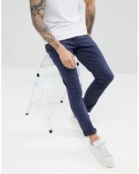 Jack & Jones Slim Fit Jeans In Navy Coloured Denim
