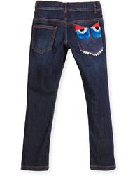 Fendi Slim Fit Monster Pocket Jeans Blue Size 2 5