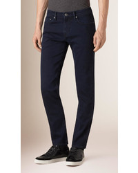 Burberry Slim Fit Over Dyed Stretch Jeans