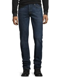 Tom Ford Slim Fit Selvedge Harrison Wash Denim Jeans Blue
