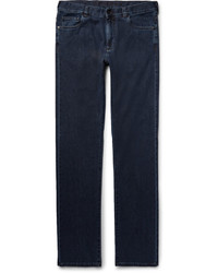 Canali Slim Fit Stretch Cotton And Cashmere Blend Denim Jeans
