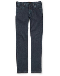 Brioni Slim Fit Washed Denim Jeans