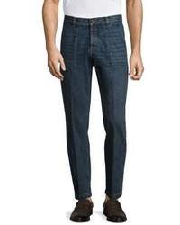 Eleventy Slim Fit Whiskered Jeans