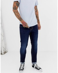 New Look Slim Jeans In Dark Blue Wash