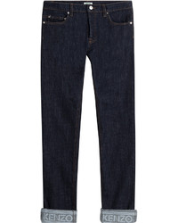 Kenzo Slim Jeans With Cuffed Ankles