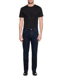 Stefano Ricci Snake Tag Five Pocket Slim Fit Jeans Denim