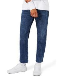 Topman Standard Slim Fit Cutoff Jeans