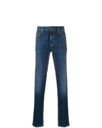 Z Zegna Stonewashed Slim Fit Jeans