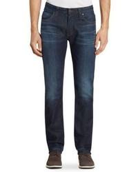 Armani Collezioni Straight Fit Aj Mid Wash Jeans