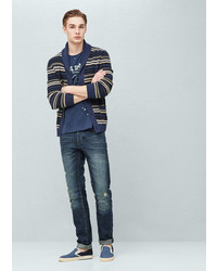 Mango Outlet Straight Fit Dark Marc Jeans