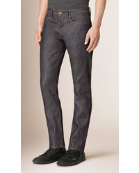 Burberry Straight Fit Deep Indigo Jeans