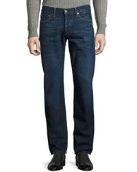 Tom Ford Straight Fit Denim Jeans Worn Blue