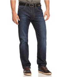 Armani Jeans Straight Fit Jeans Medium Dark Blue Wash