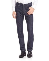 Z Zegna Straight Fit Stretch Cotton Jeans