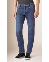 Burberry Straight Fit Stretch Japanese Denim Jeans