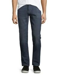 Burberry Straight Leg Brushed Denim Jeans