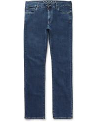 Canali Straight Leg Stretch Denim Jeans