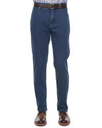 Ermenegildo Zegna Stretch Denim Five Pocket Jeans Indigo