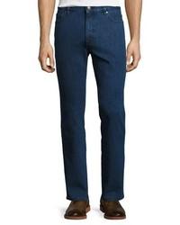 Ermenegildo Zegna Stretch Denim Straight Leg Jeans