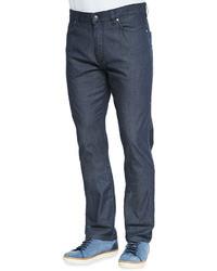 Ermenegildo Zegna Summer Denim Jeans Navy