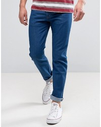 Wrangler Tapered Jeans In Rinse Wash
