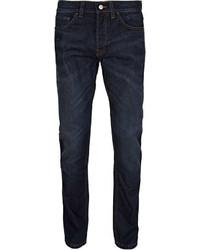 Topman Dark Wash Vintage Slim Jeans