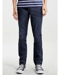 Topman Indigo Grey Stretch Slim Jeans