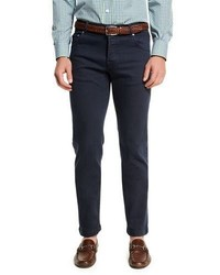 Kiton Twill Five Pocket Jeans Navy