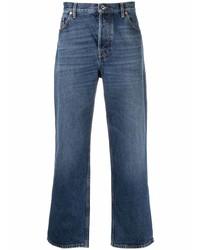 Valentino Vlogo Print Straight Leg Jeans