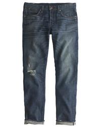 J.Crew Wallace Barnes Japanese Denim Jean In Destroyed Faded Indigo Wash