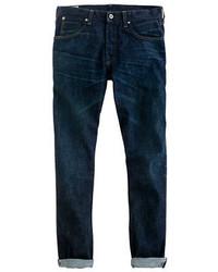 J.Crew Wallace Barnes Slim Selvedge Jean In Dark Wear Wash