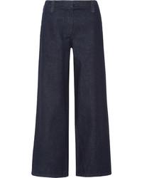 The Row Werto Low Rise Wide Leg Jeans Indigo