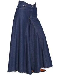 MM6 MAISON MARGIELA Wide Leg Cotton Denim Jeans