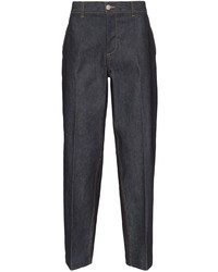 MAISON KITSUNÉ Wide Leg Cropped Jeans