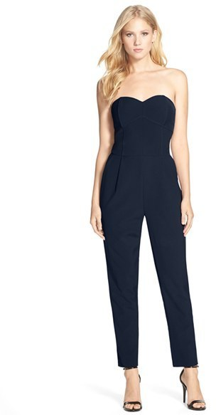 3260950edfdf ... Navy Jumpsuits Adelyn Rae Adelyn R Strapless Jumpsuit ...