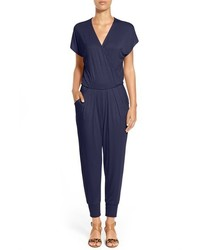 Petite short sleeve wrap top jumpsuit medium 3752962
